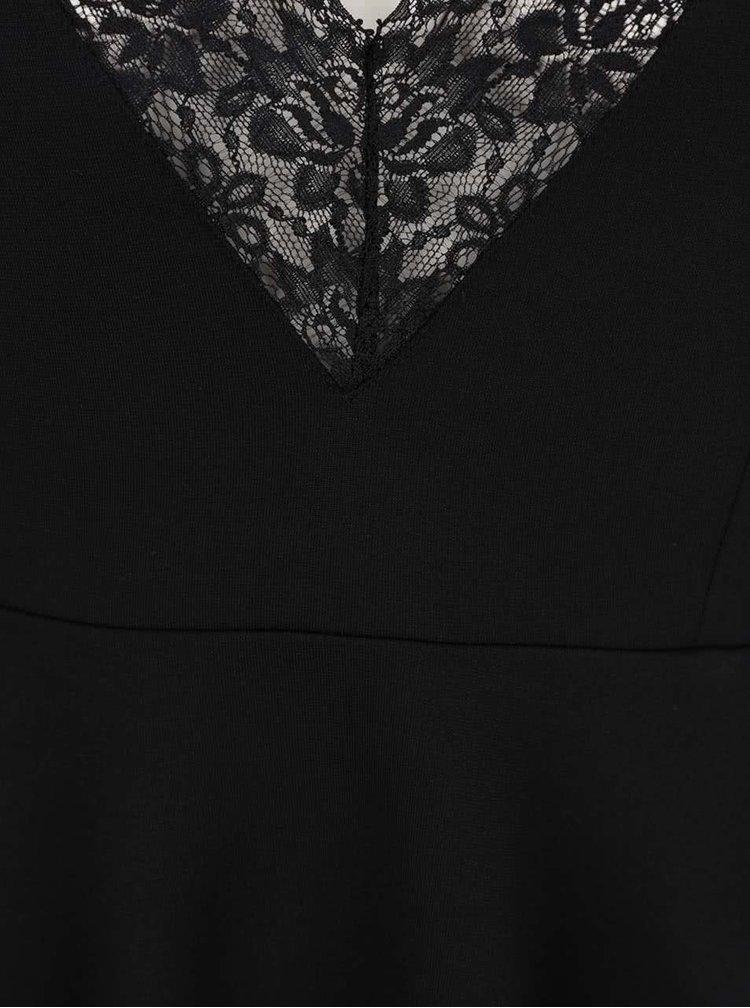 Top negru VILA Gemma cu detalii din dantelă la spate