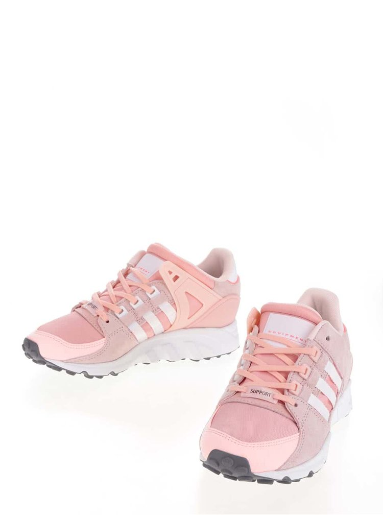 Pantofi sport roz adidas Originals Equipment Support cu detalii din piele intoarsa