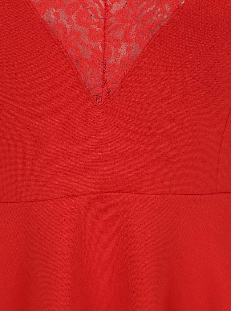 Červený top s čipkou na chrbte VILA Gemma
