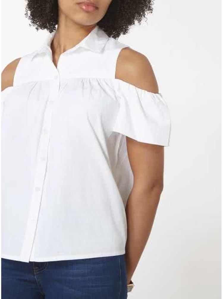 Bílá košile s průstřihy na ramenou Dorothy Perkins