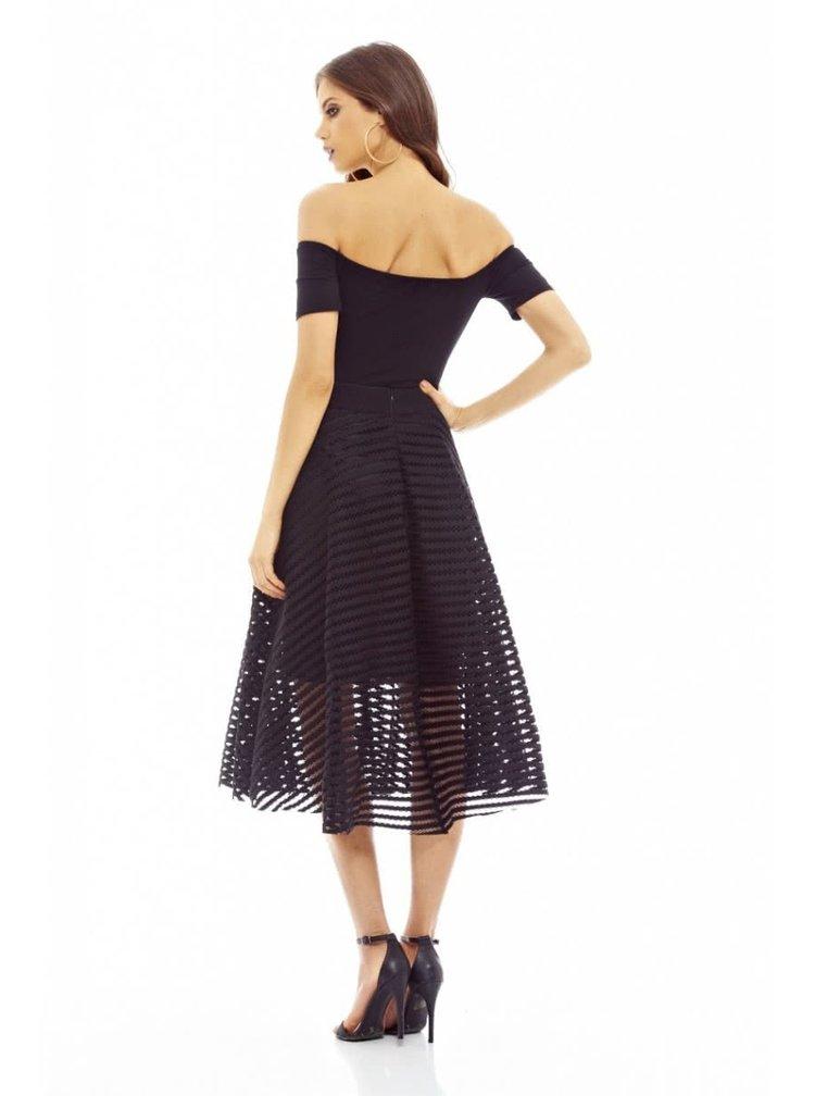 Černá perforovaná sukně  AX Paris
