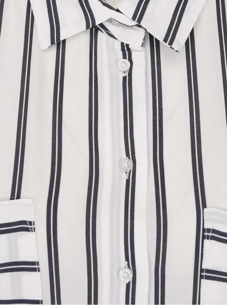 Camasa alba Broadway Barra cu model in dungi