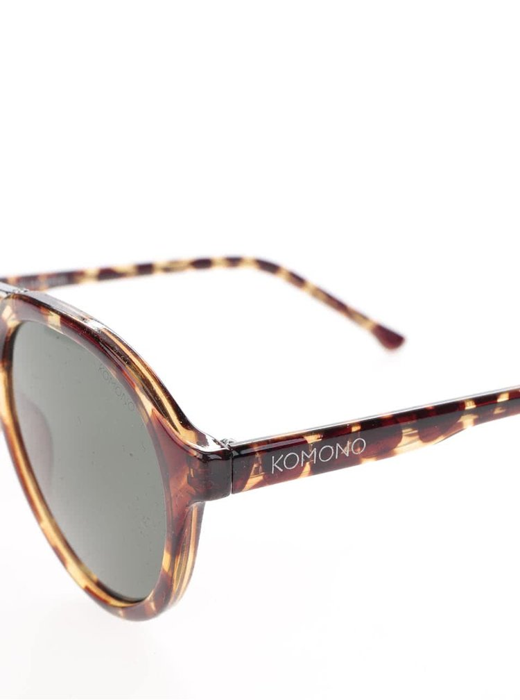Ochelari de soare maro unisex Komono Harper cu logo