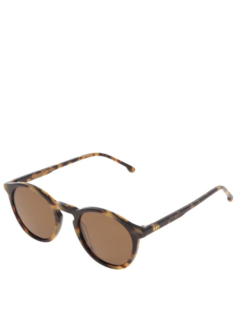 Ochelari de soare maro Komono Crafed Aston cu logo si model pentru femei