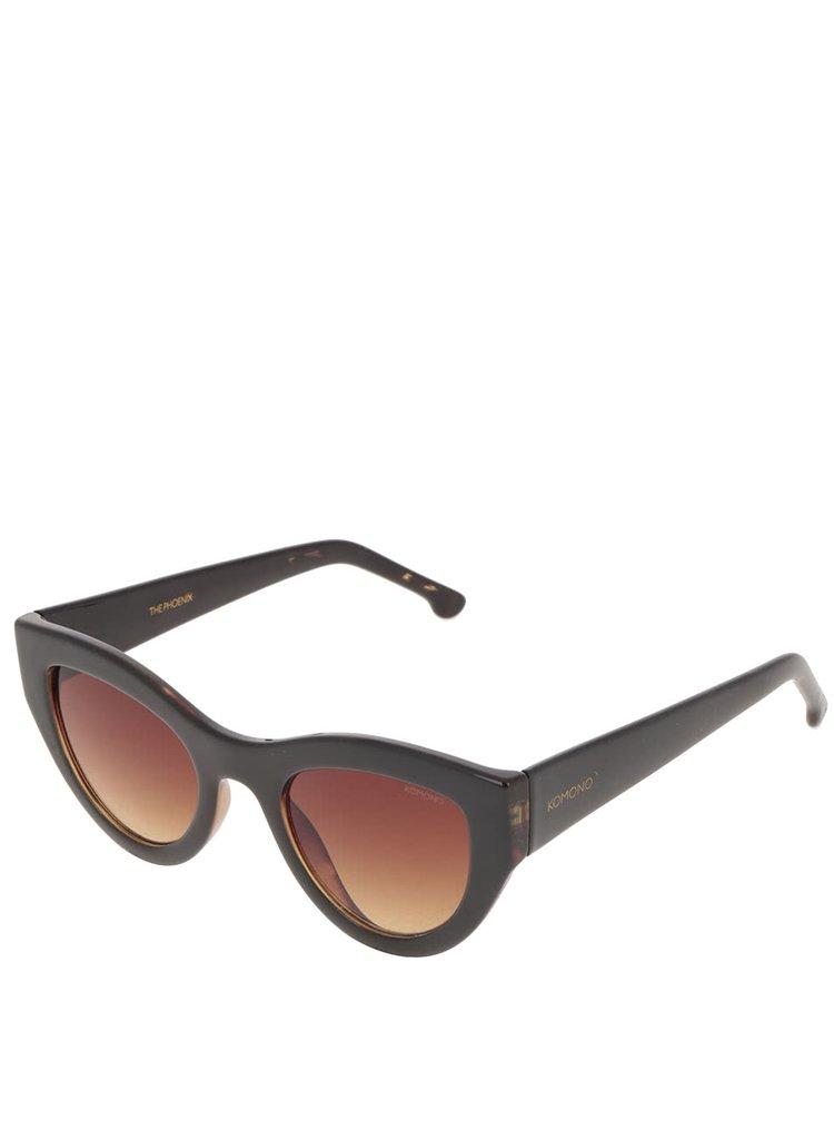 Černé dámské sluneční brýle Komono Phoenix