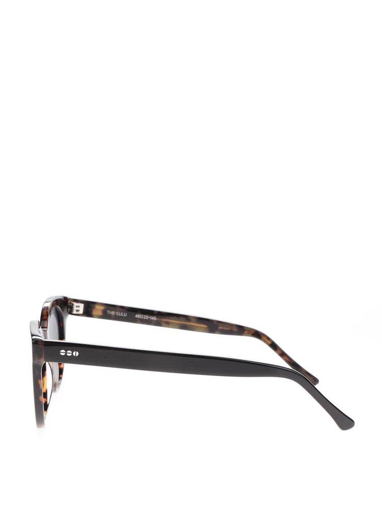 Černé unisex sluneční brýle Komono Crafted Lulu