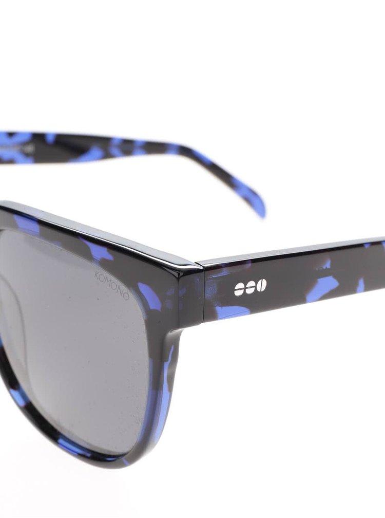 Ochelari de soare albastru & negru Komono Crafted Riviera pentru barbati