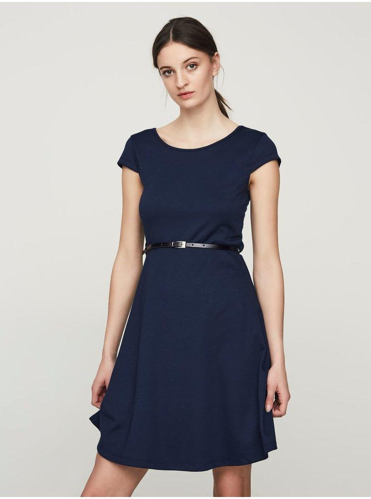 Tmavomodré šaty s opaskom VERO MODA Vigga