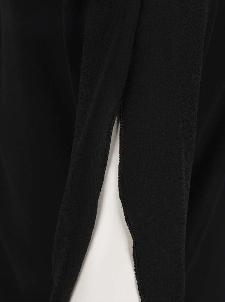 Černá halenka s uzlem Madonna Amylee