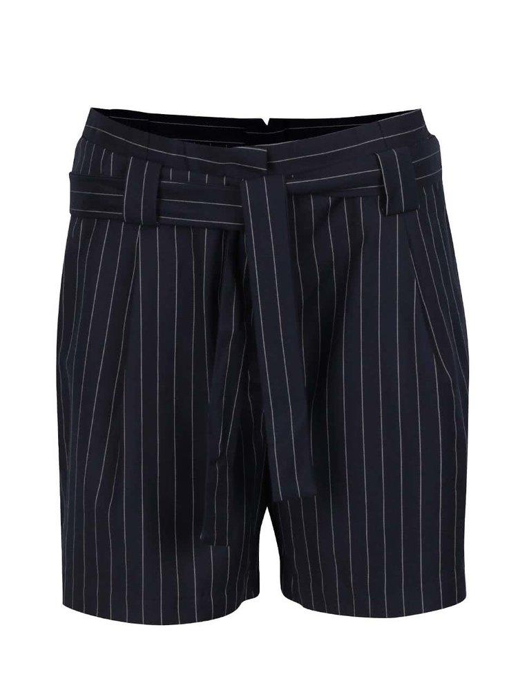 Pantaloni negri cu model în dungi verticale Broadway Ellar