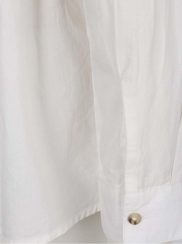 Cămașă albă Jacqueline de Yong Wall cu volan decorativ