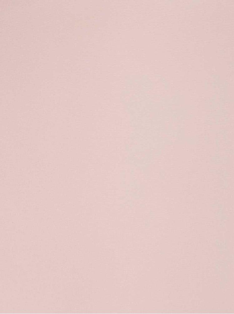Růžový průsvitný crop top Madonna Chipsy