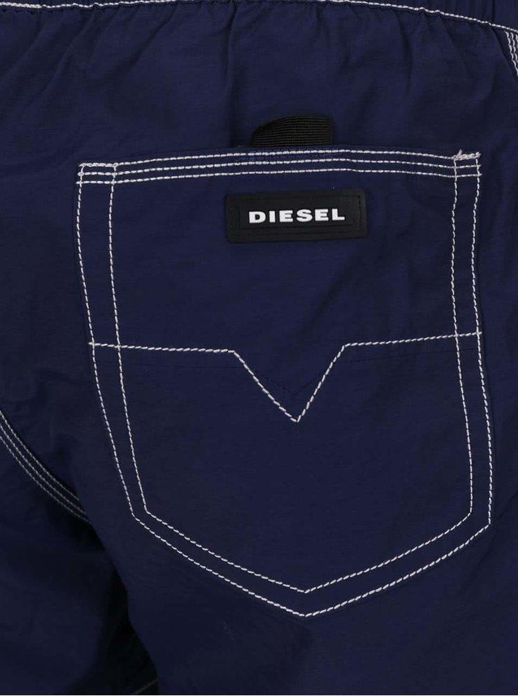 Pantaloni scurți bleumarin Diesel cu talie elastică