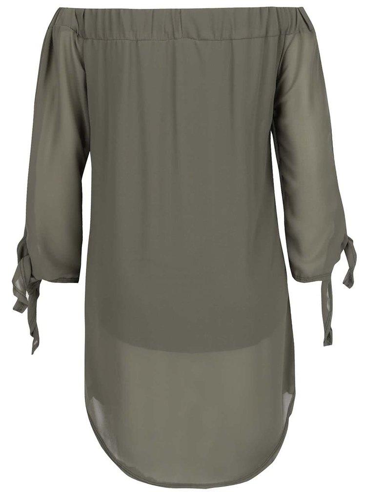 Khaki tunika s lodičkovým výstřihem Madonna Noreen