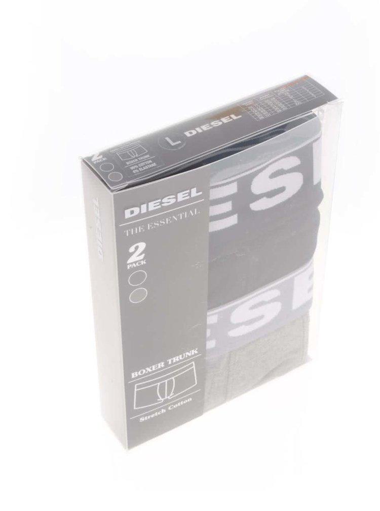 Set gri&negru Diesel cu două perechi de boxeri cu logo