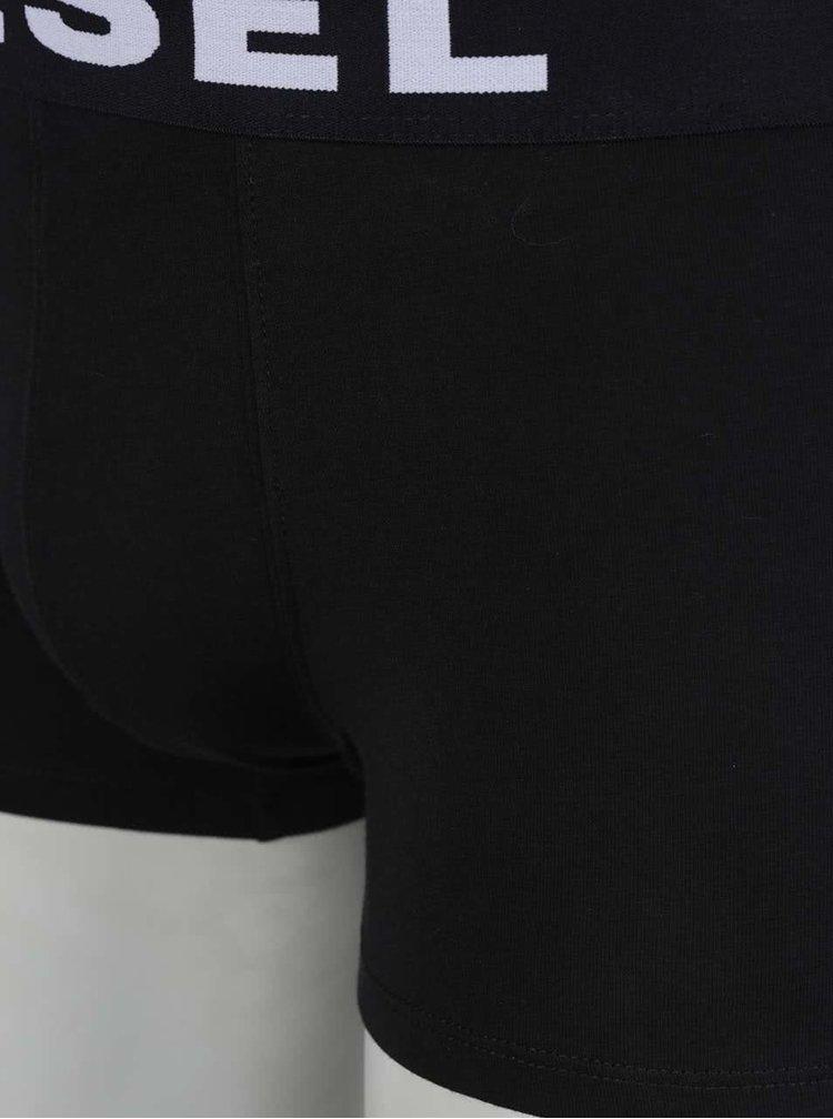 Set gri&negru Diesel cu doua perechi de boxeri cu logo