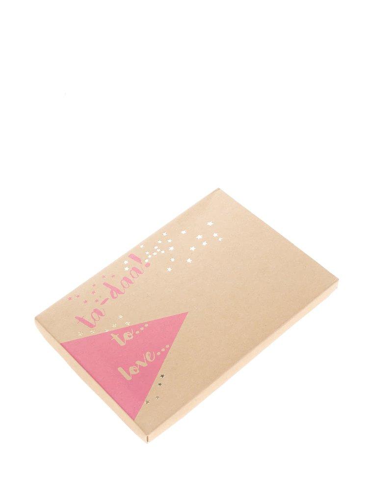 Růžovo-zelená peněženka s třásní Disaster