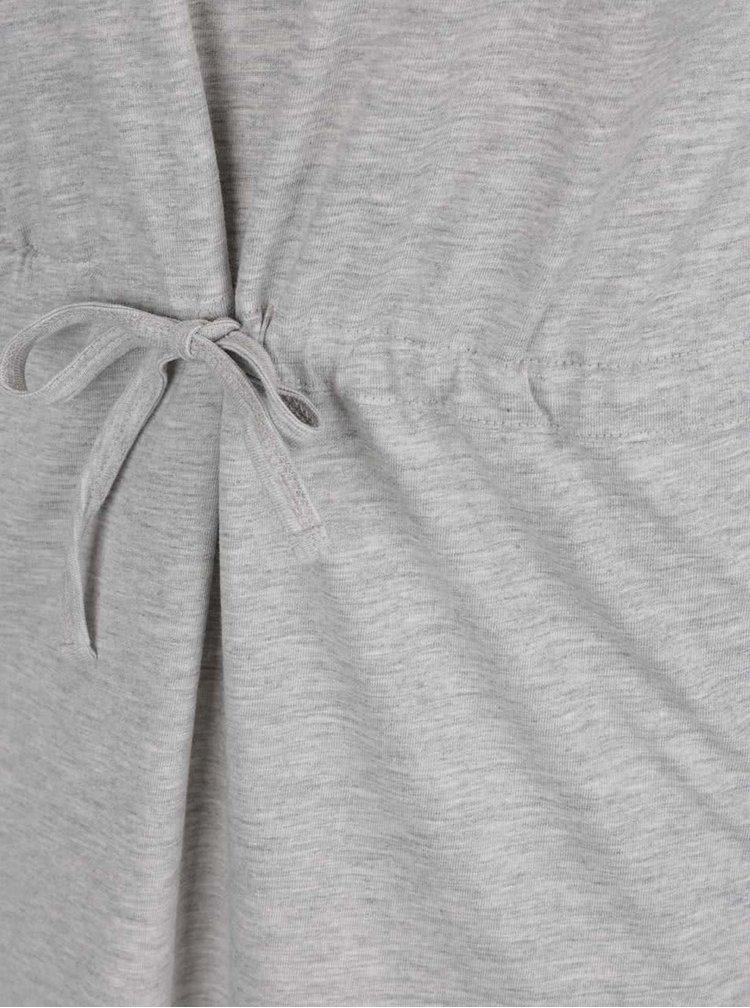 Rochie gri deschis ONLY May cu șnur în talie