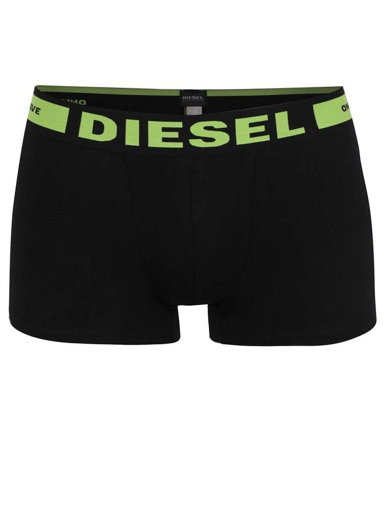 Sada tří boxerek v černé barvě s barevnými nápisy Diesel