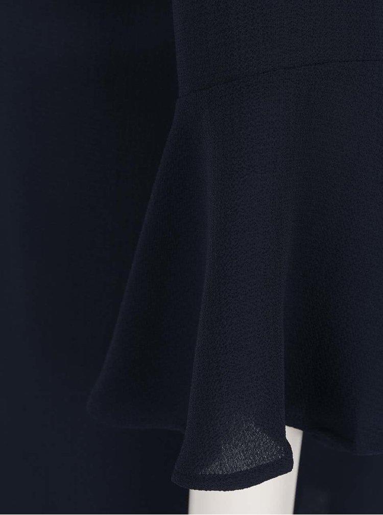 Rochie albastru inchis Jacqueline de Yong Chrissy cu maneci tip fluture si croi lejer