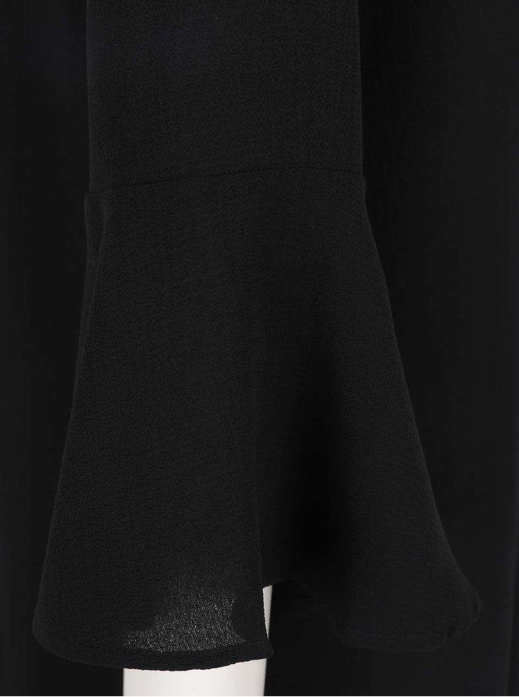Rochie neagră Jacqueline de Yong Chrissy cu mâneci tip fluture și croi lejer