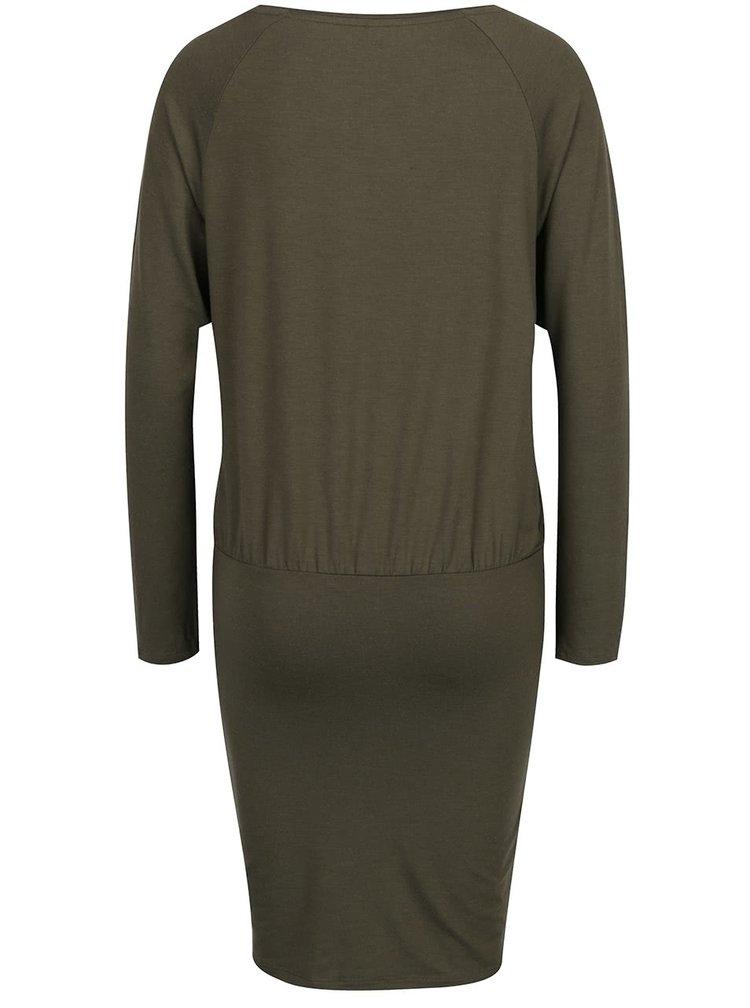 Khaki šaty s volným topem ONLY Sarah