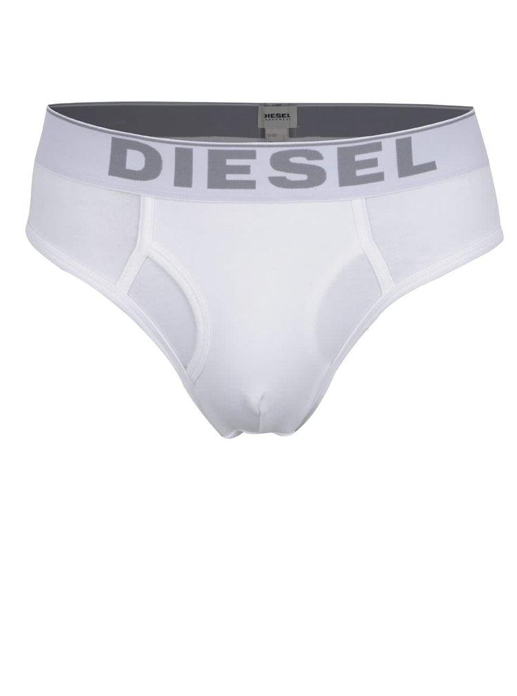 Sada tří slipů v šedé, bílé a černé barvě Diesel