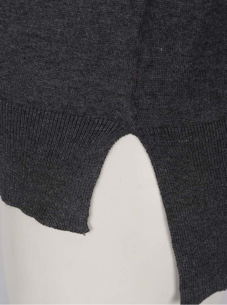 Bluza gri inchis ONLY Caprice cu decupaj pe umeri