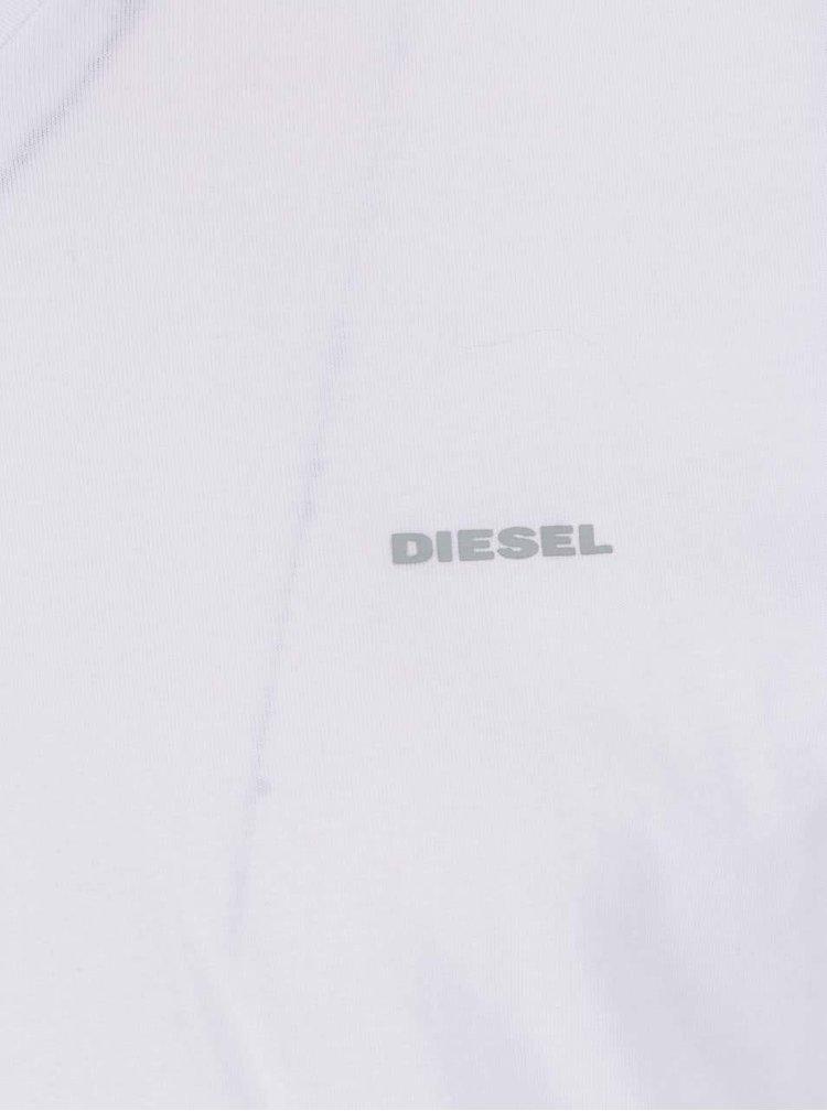 Sada tří bílých pánských trik pod košili Diesel