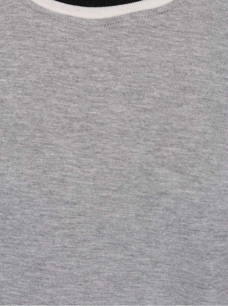 Bluză gri melanj Jacqueline de Yong Dusty cu detaliu negru