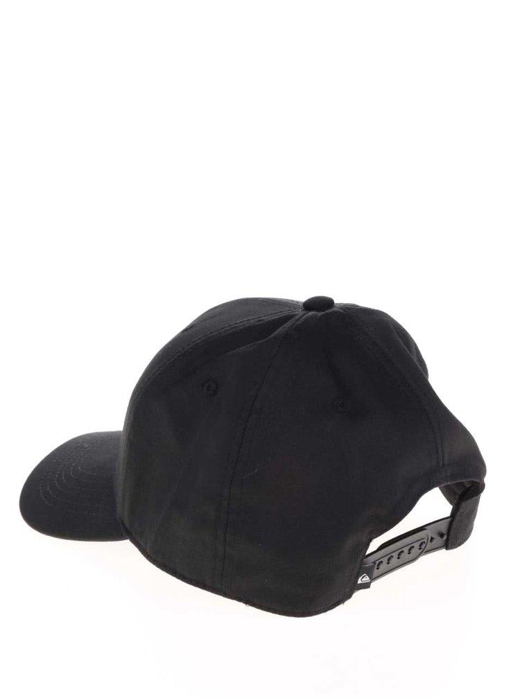 Černá pánská kšiltovka s bílou výšívkou loga Quiksilver