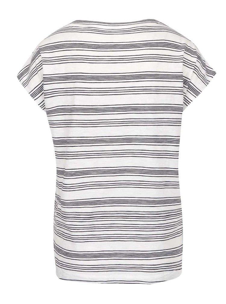 Krémové dámske pruhované tričko s.Oliver