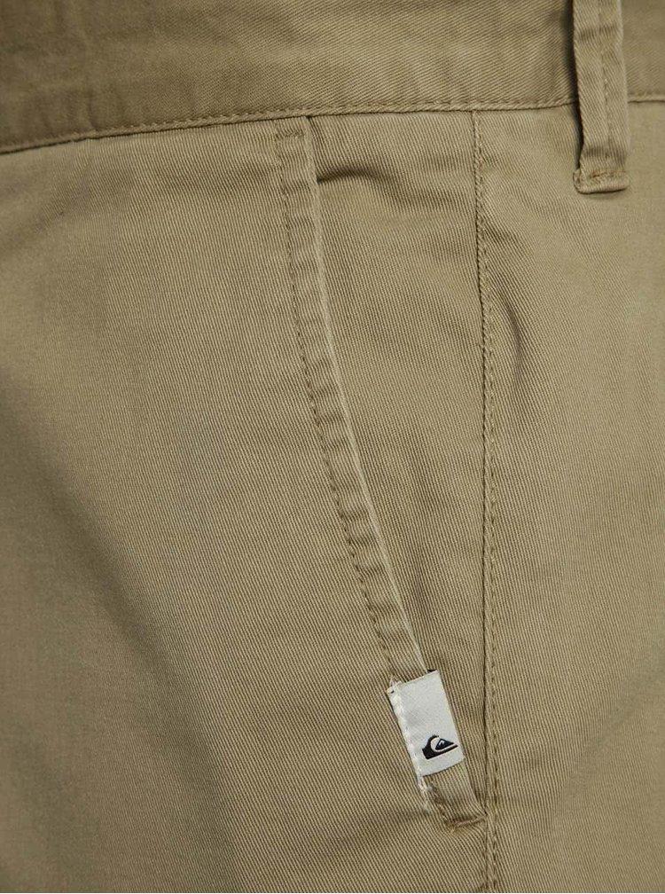 Pantaloni chino scurti bej Quiksilver cu croi drept