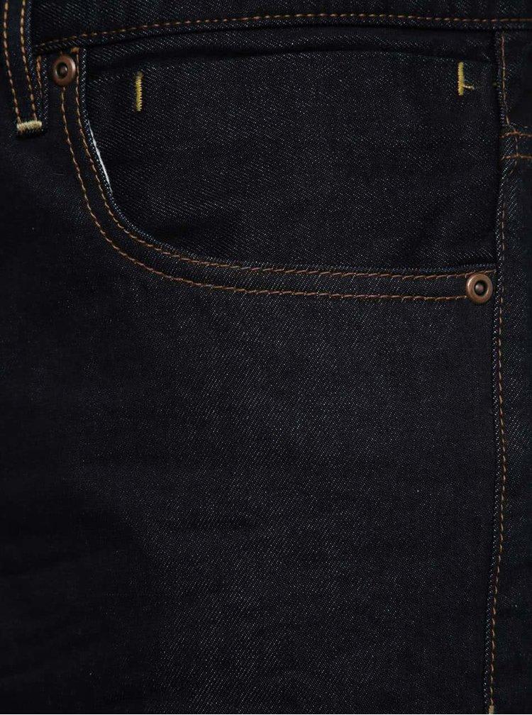 Tmavě modré pánské džínové kraťasy Quiksilver