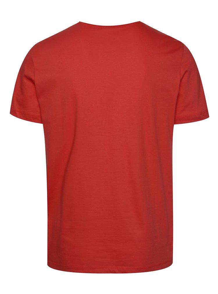 Červené pánské triko s potiskem Quiksilver