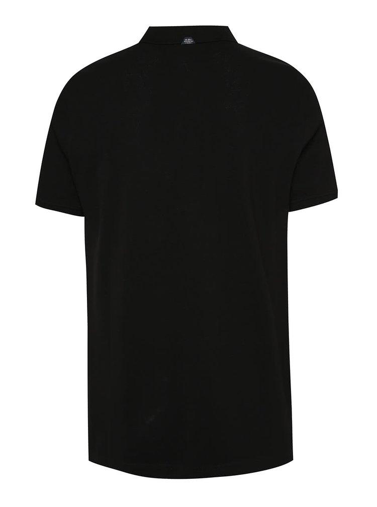 Černé pánské polo tričko s.Oliver