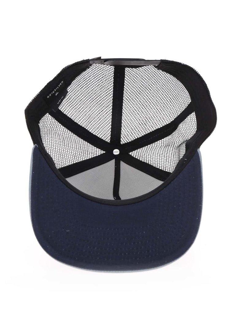 Černo-modrá pánská kšiltovka se síťovanou zadní částí Quiksilver