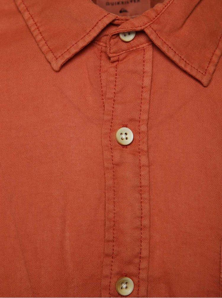 Oranžová pánská košile s krátkým rukávem Quiksilver