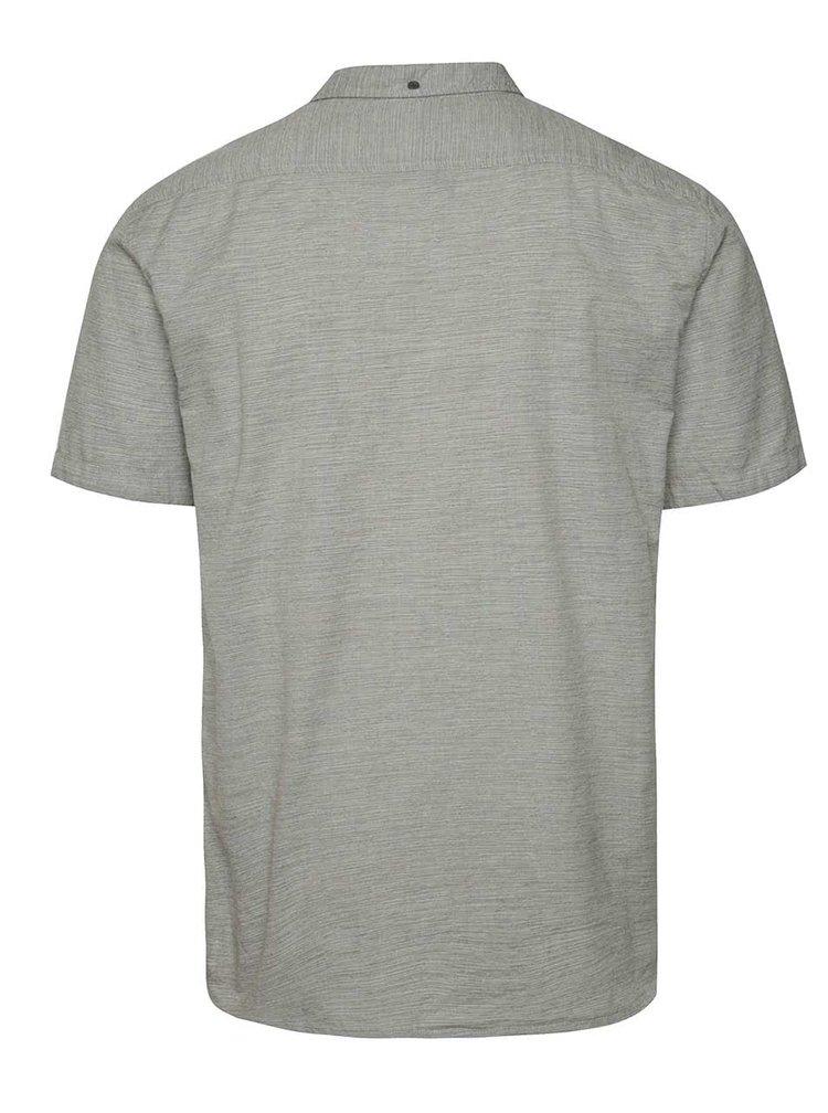 Šedá žíhaná pánská košile s krátkým rukávem Quiksilver