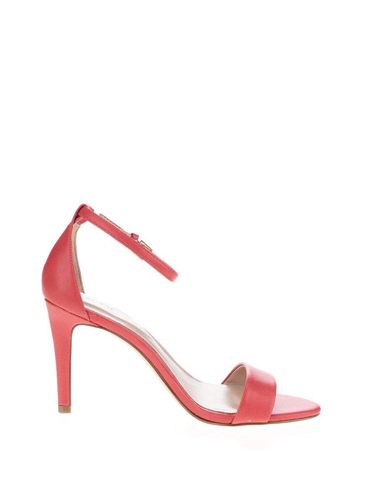Červené sandálky na jehlovém podpatku ALDO Camy