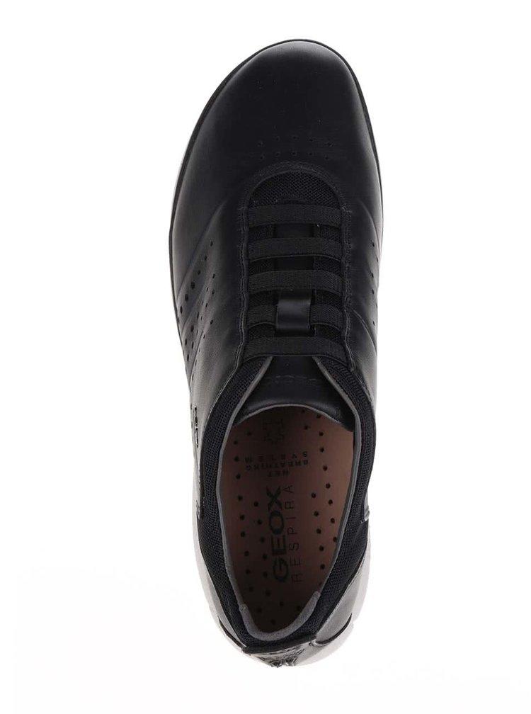 Pantofi sport negri Geox Nebula A din piele cu logo