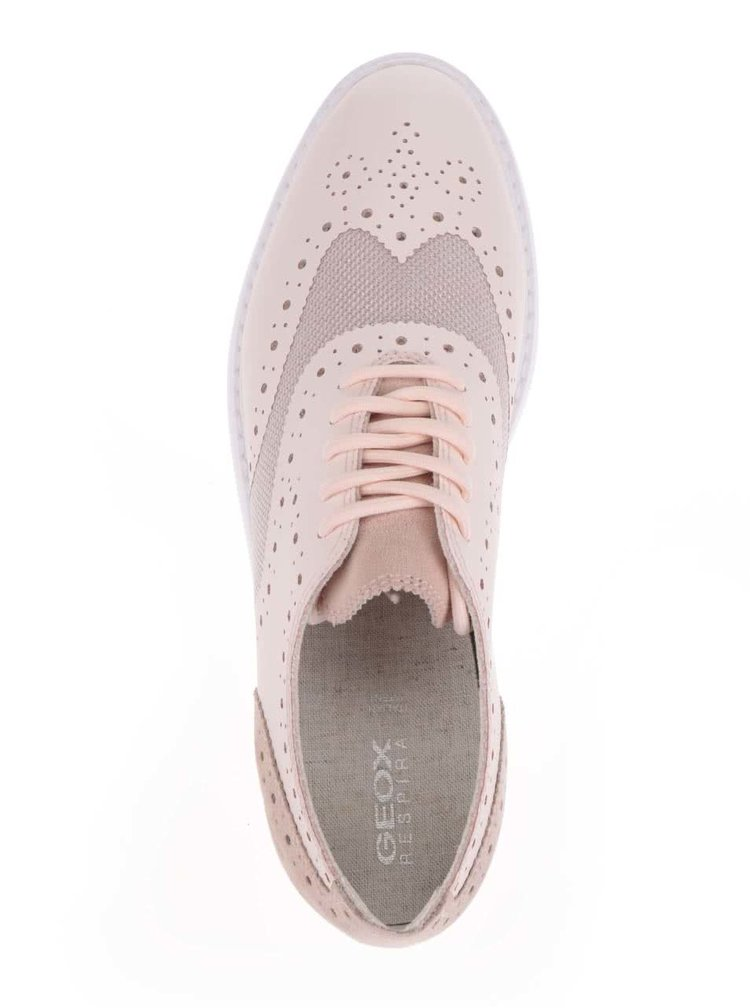 Pantofi sport roz deschis cu perforatii Geox Thymar B