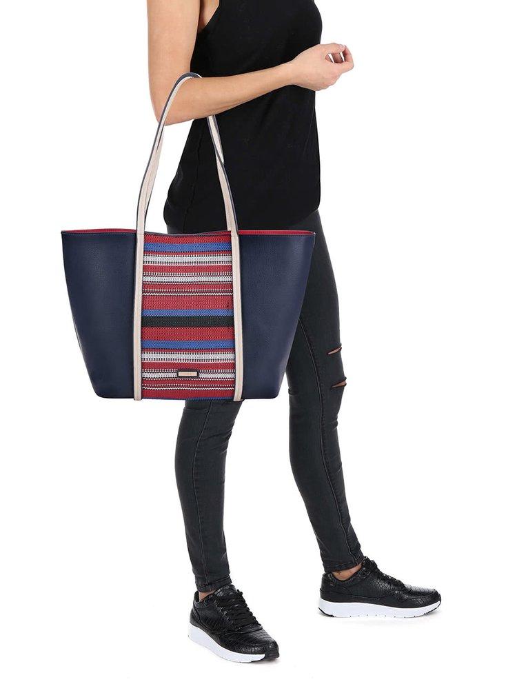 Modrý shopper s pruhy ALDO Gagliato