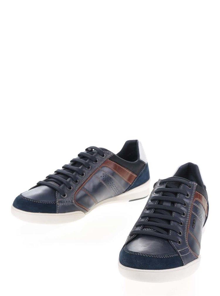 Pantofi sport albaștri Geox Kristof cu detaliu alb