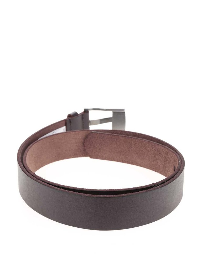 Tmavě hnědý pánský kožený pásek Quiksilver