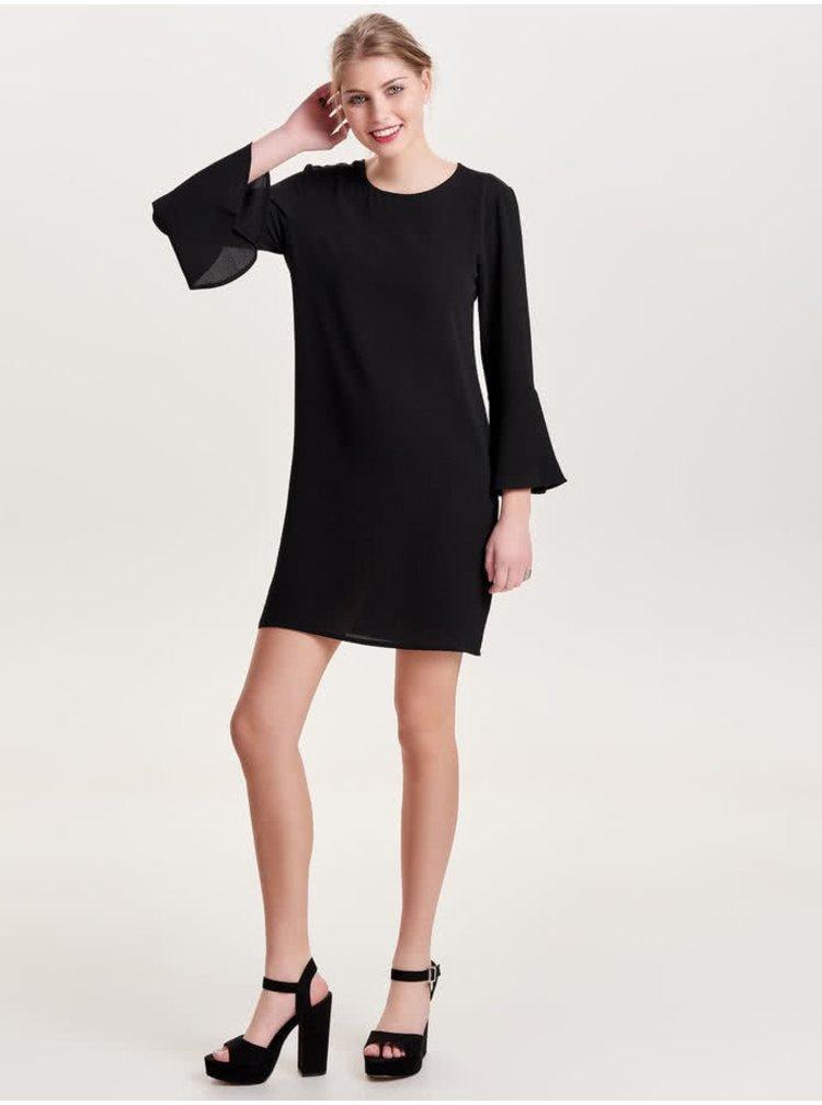 Černé šaty s volány na rukávech Jacqueline de Yong Chrissy