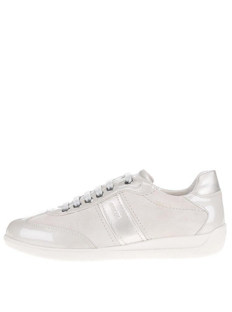 Pantofi sport crem Geox Myria A cu detalii cu aspect lucios