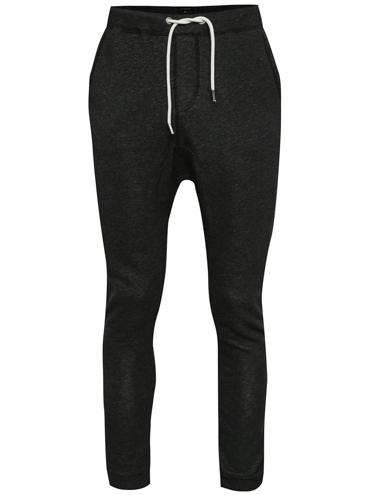 Pantaloni sport gri închis melanj Quiksilver cu talie elastică