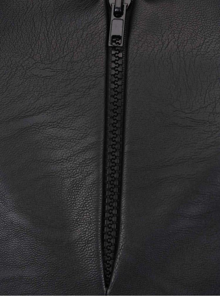 Černý ručně malovaný crop top Silvia Serban
