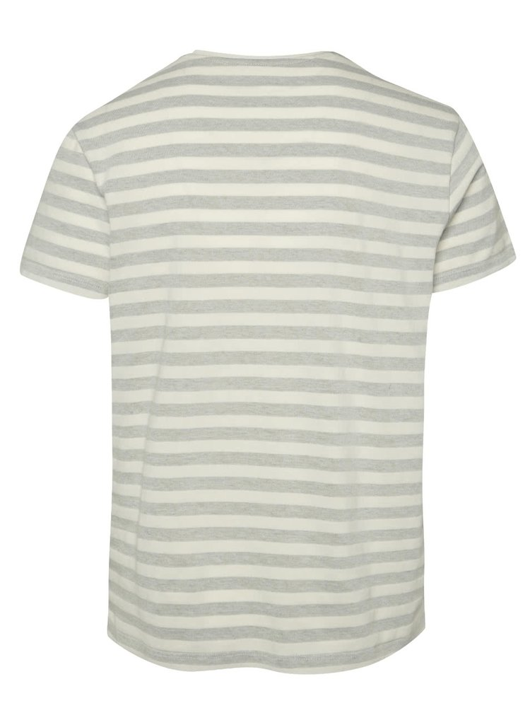 Tricou gri&crem s.Oliver cu model în dungi
